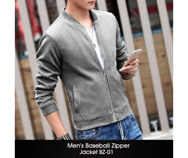 Mens Baseball Zipper Jacket BZ-01