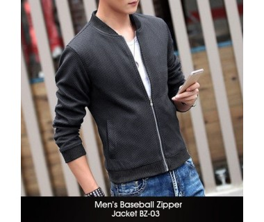 Mens Baseball Zipper Jacket BZ-03