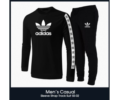 Mens Casual Sleeve Strap Track Suit SS-02