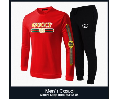 Mens Casual Sleeve Strap Track Suit SS-05