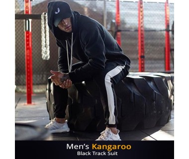 Mens Kangaroo Black Track Suit