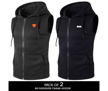 Pack of 2 BG Sleeveless Casual Hoodie