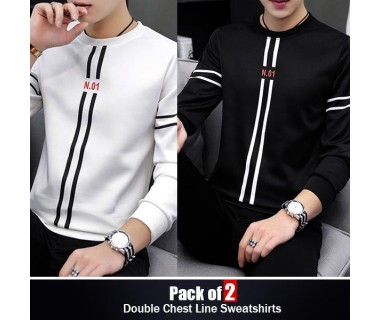 Pack of 2 Double Chest Line Sweatshirts