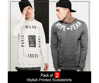 Pack of 2 Stylish Printed Sweatshirts