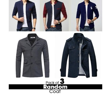 Pack of 3 Random Coat