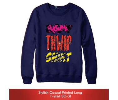 Stylish Casual Printed Long T-shirt SC-31