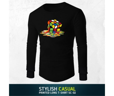 Stylish Casual Printed Long T-shirt SC-02