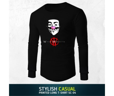 Stylish Casual Printed Long T-shirt SC-04