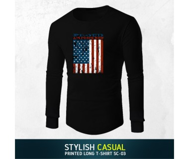 Stylish Casual Printed Long T-shirt SC-05