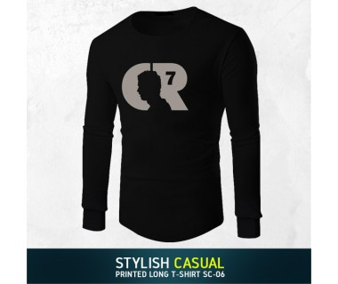 Stylish Casual Printed Long T-shirt SC-06