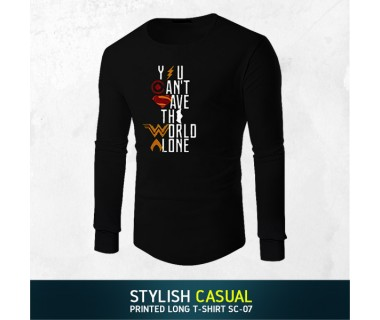 Stylish Casual Printed Long T-shirt SC-07