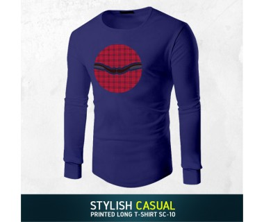 Stylish Casual Printed Long T-shirt SC-10