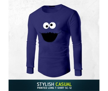Stylish Casual Printed Long T-shirt SC-12