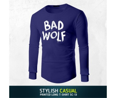 Stylish Casual Printed Long T-shirt SC-13