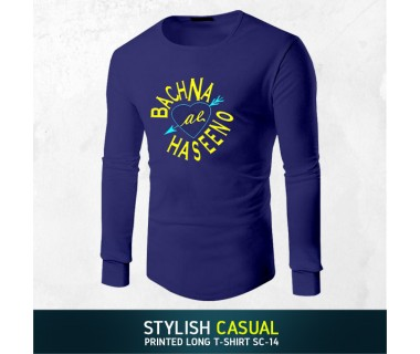 Stylish Casual Printed Long T-shirt SC-14