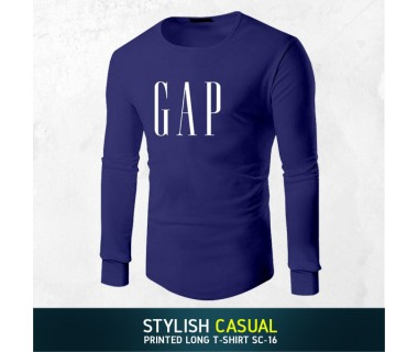 Stylish Casual Printed Long T-shirt SC-16