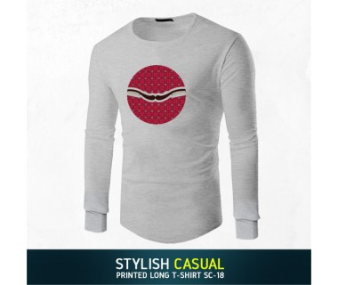 Stylish Casual Printed Long T-shirt SC-18