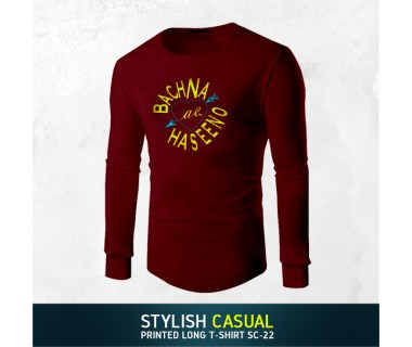 Stylish Casual Printed Long T-shirt SC-22