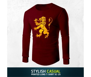 Stylish Casual Printed Long T-shirt SC-25