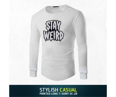 Stylish Casual Printed Long T-shirt SC-28
