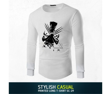 Stylish Casual Printed Long T-shirt SC-29