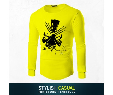 Stylish Casual Printed Long T-shirt SC-30