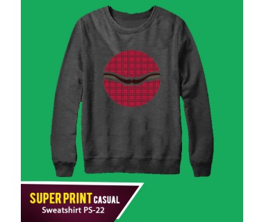 Super Print Casual Sweatshirt PS-22