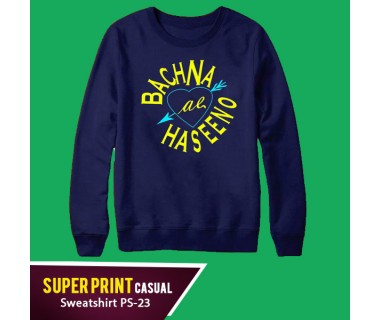 Super Print Casual Sweatshirt PS-23