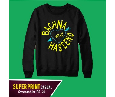 Super Print Casual Sweatshirt PS-25