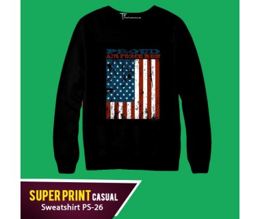 Super Print Casual Sweatshirt PS-26