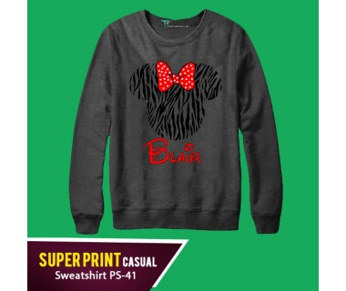 Super Print Casual Sweatshirt PS-41