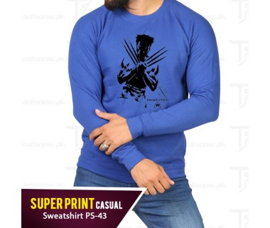 Super Print Casual Sweatshirt PS-43