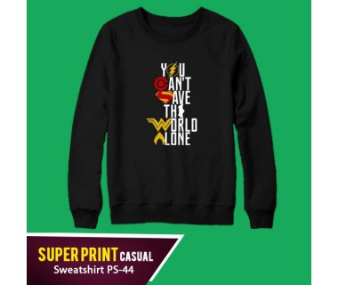 Super Print Casual Sweatshirt PS-44