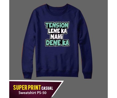 Super Print Casual Sweatshirt PS-50
