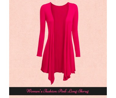 Womens Fashion Pink Long Shrugs