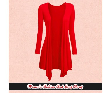 Womens Fashion Red Long Shrugs