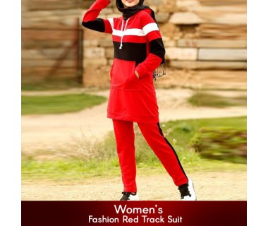 Womens Fashion Red Track Suit