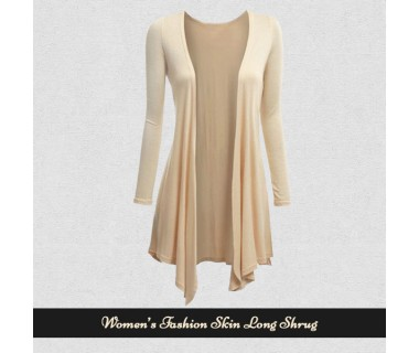 Womens Fashion Skin Long Shrugs