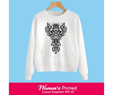 Womens Printed Casual Sweatshirt WP-07